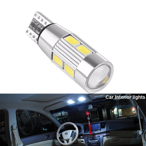 Image 4 - 2x T10 W5W araba LED sinyal ampul Canbus otomatik iç ışık plaka okuma dönüş kama yan park ters fren lambası 10SMD