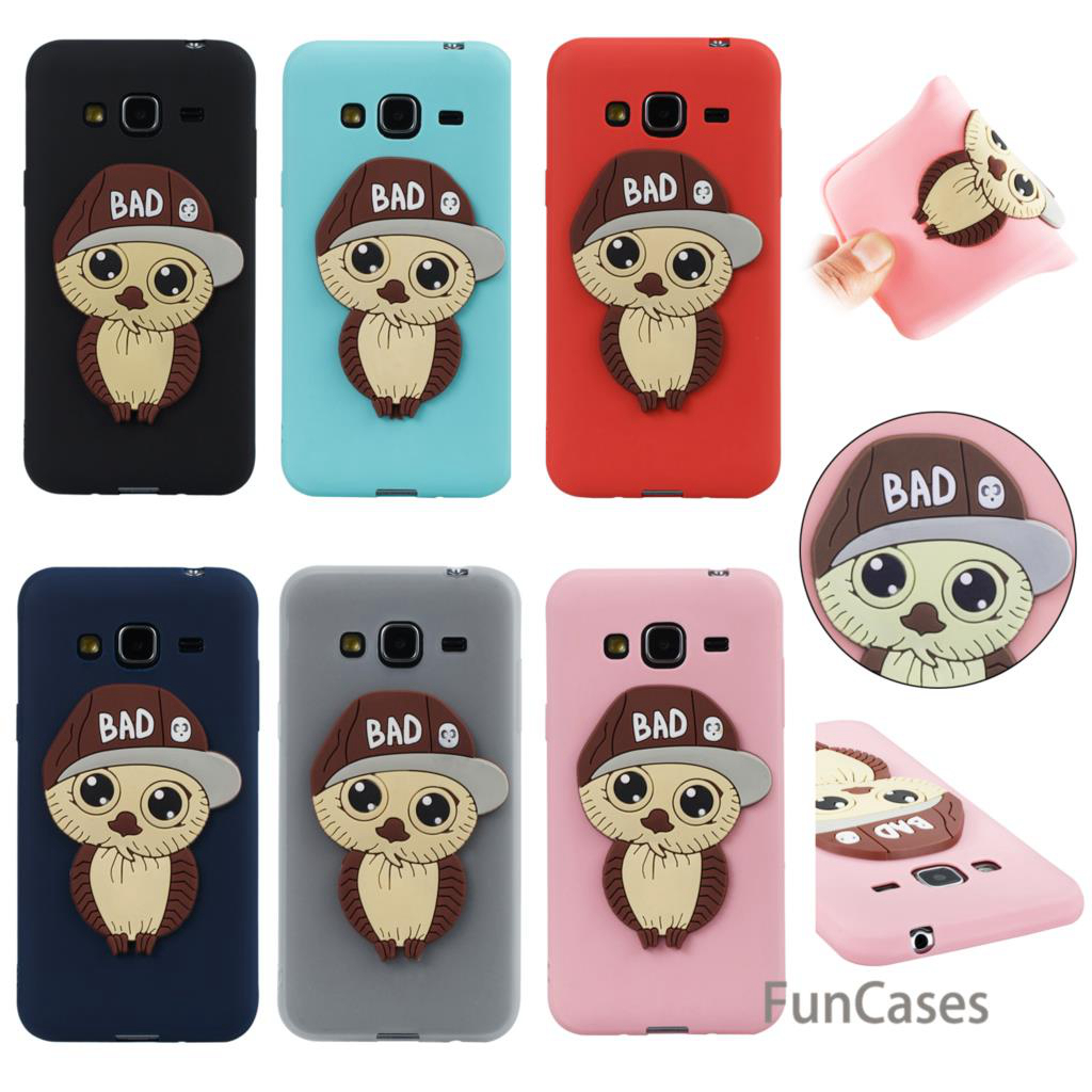 Rubber Owl Case sFor Coque Samsung J3 Soft Silicone Back Cover Capa Vintage Flip Case sF ...