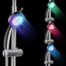 Batteryless Temperature Control Led Shower Heads Colors Change Bathroom Hand Held Bath Shower Faucet Shower Equipment Drop Ship цена