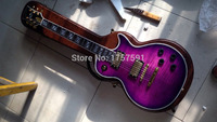 Free shipping!!! Top quality supreme Vintage Mahogany body LP Supreme purple burst Electric guitar with hard case