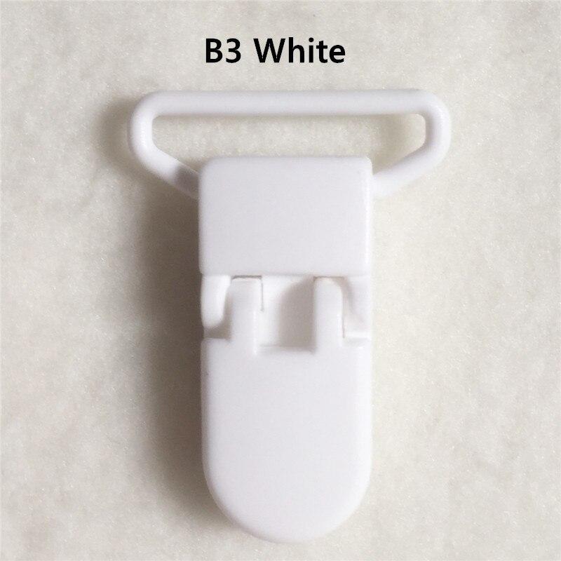 20 цветов смешанный) DHL 300 шт. Горячие формы D 2.5 см 1 ''Пластик маленьких Соски соска пустышка адаптер Chain Зажимы для 25 мм ленты - Цвет: B3