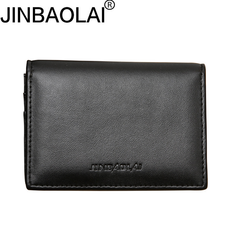 JINBAOLAI Men's business card holder Large capacity multifunction wallet  for money Ultra thin credit card holder D3154-1 240 cards large capacity pu leather business card holder card collection book 1493