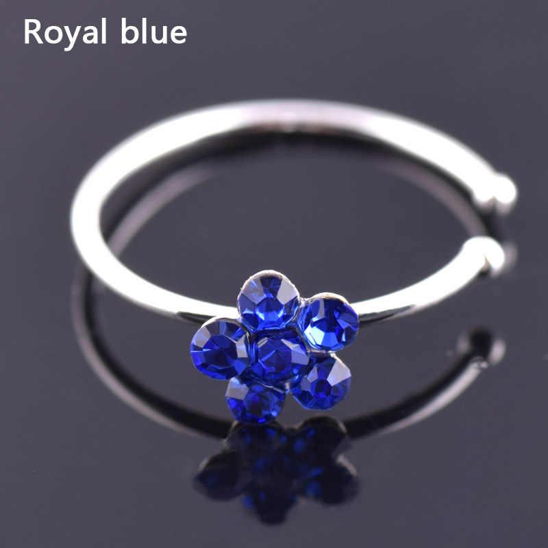1 pc venda colorido narina nariz inoxidável hoop nariz de ameixa anéis clipe no nariz anel falso piercing jóias do corpo para mulher