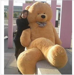 0d2dfb981b7 Dropshipping 300cm 118inch Giant Teddy Bear Plush 100% Cotton Giant Stuffed  Bear Huge Teddy Bear toys for girls christmas gift on Aliexpress.com