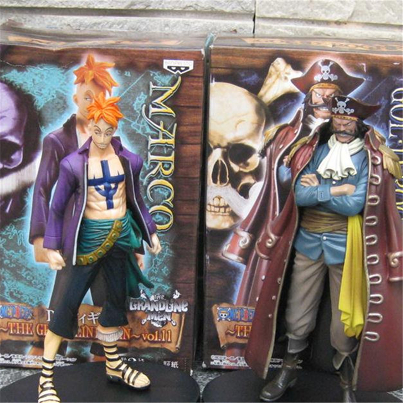 1pc/lot Anime One Piece Figures Marco VS Gol.D.Roger PVC 2 Styles Marco/Roger Action Figure Collection Kids Toys 17cm