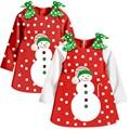 Baby Girl's Cotton Tutu Dress Kid Christmas Dress Kid Long Sleeve Dot Casual Dress For Girl
