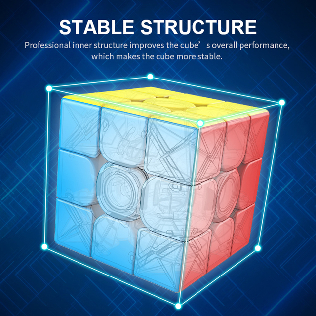 MoYu 3x3x3 meilong magic cube stickerless cube puzzle professional speed cubes educational toys for students 5
