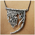Vintage Eternal Root Alloy Big Pendant Necklace Ethnic Chunky Pendant Long Sweater Rope Fashion Jewelry Silver Plated Women Gift