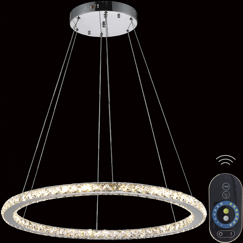 Candle Lamp Shades Shop: Dimmable Diamond Round Ring Led Pendant Light For Kitchen Suspension  Luminaire Lustre Living lamp circles Hanging Lamps Lights,Lighting