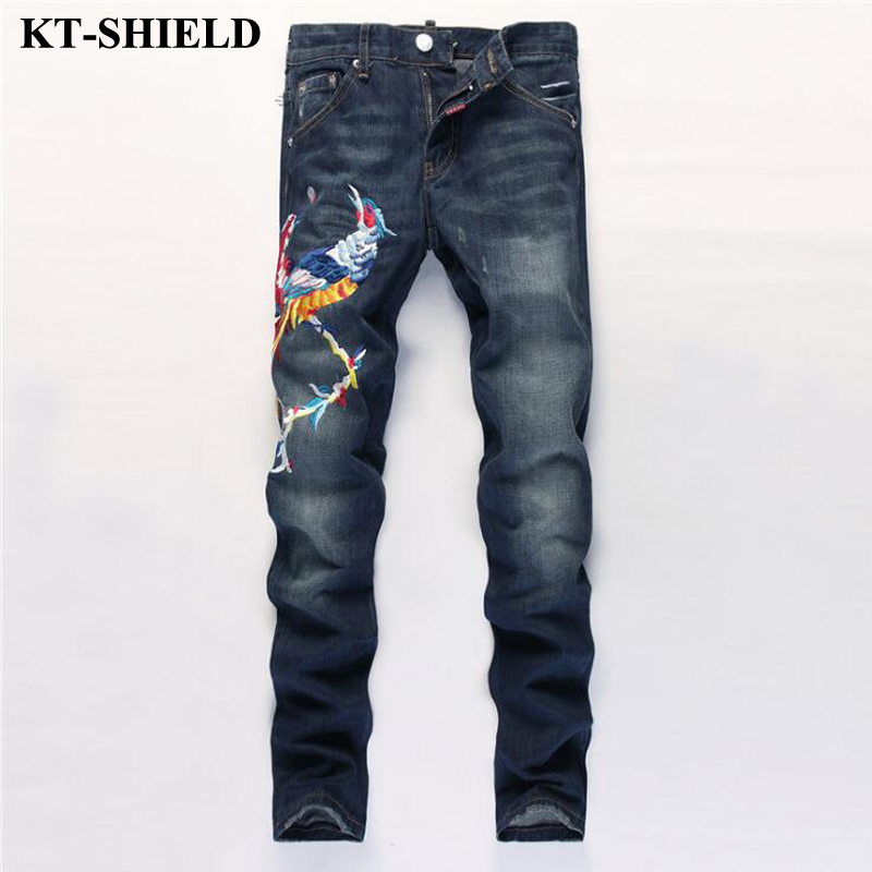 High Quality Mens Jeans 100 Cotton Blue Slim Fit Ripped Jeans Men Fashion Brand Motorcycle Denim