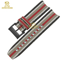 Nylon watchband British fashion style watch strap bottom genuine leather bracelet 22mm watch band accessories for BU7600 BU7601