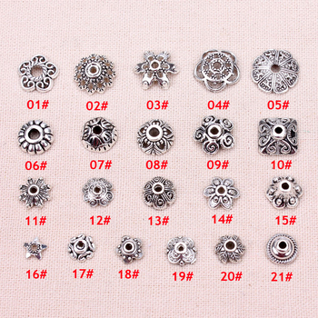 100pcs/lot The silver beads cap receptacle jewelry  DIY Jewelry Findings making
