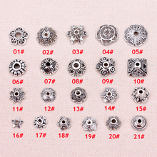 100pcs/lot The Vintage silver beads cap receptacle jewelry accessories DIY Jewelry Findings