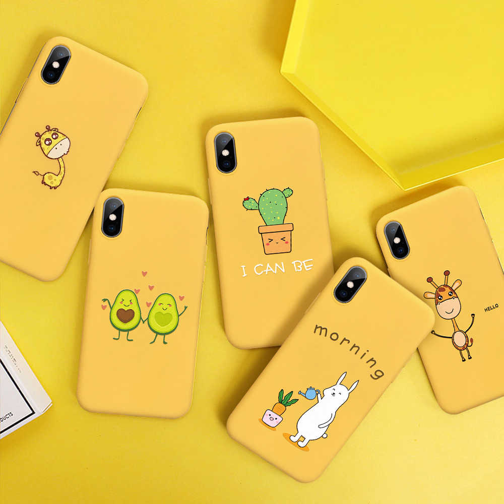 Cute Rabbit Giraffe Cartoon Phone Case For iPhone X XS Max XR TPU Silicone Back Cover For iPhone 7 8 6 6S Plus 5 S SE Soft Cases