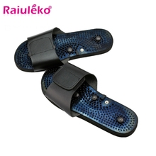 Suit Electrode Slippers Massager Acupuncture Relaxing Rubber Foot for Tens Black