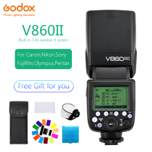 цена на Godox Ving V860II V860II-C/N/S/F/O  2.4g GN60 E-TTL HSS  Li-Ion Battery Speedlite Camera Flash for Canon Nikon Sony Fuji Olympus