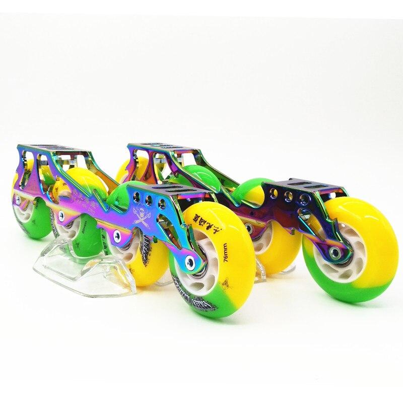 Prix pour Roues pour patins à roulettes rouleau cadre de patinage patins de 4 rodas en aluminium freeline skate tenir banane cadre de skate châssis 219 243