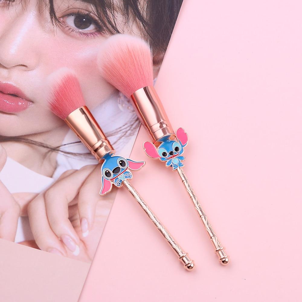 Kawaii Stitch Big Powder Blush Makeup Brush Pink Brushes Hair 1pc Foundation Brush Face Beauty Tool Professional Cosmetic