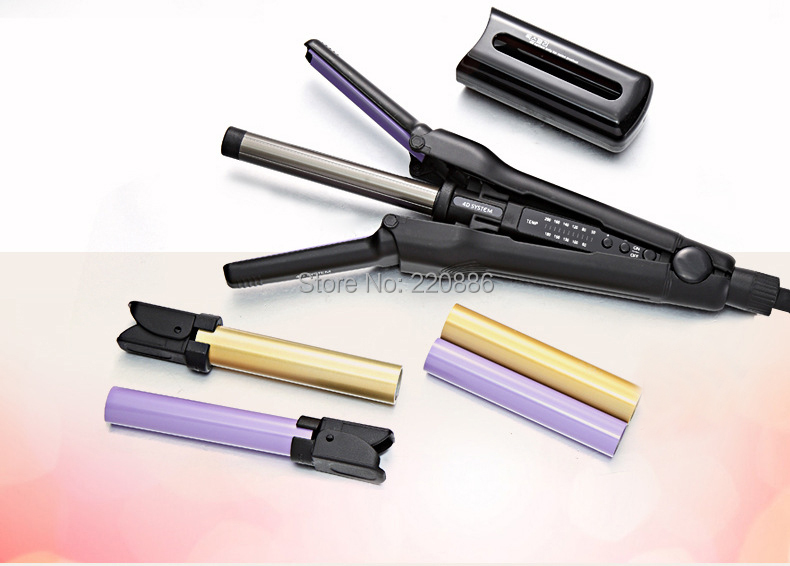 4D System Professional Hair Curler Curling Irons Hair Styling Roller 4D system only for salon product GIC-HC245 Free Shipping ckeyin 9 31mm ceramic curling iron hair waver wave machine magic spiral hair curler roller curling wand hair styler styling tool
