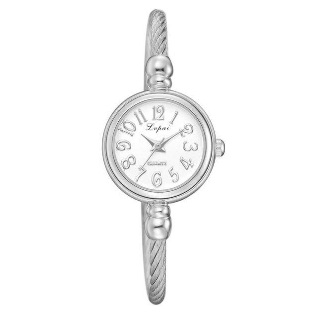 Women Stainless Steel Bracelet Watches Luxury Wristwatch Digital Quartz Watches