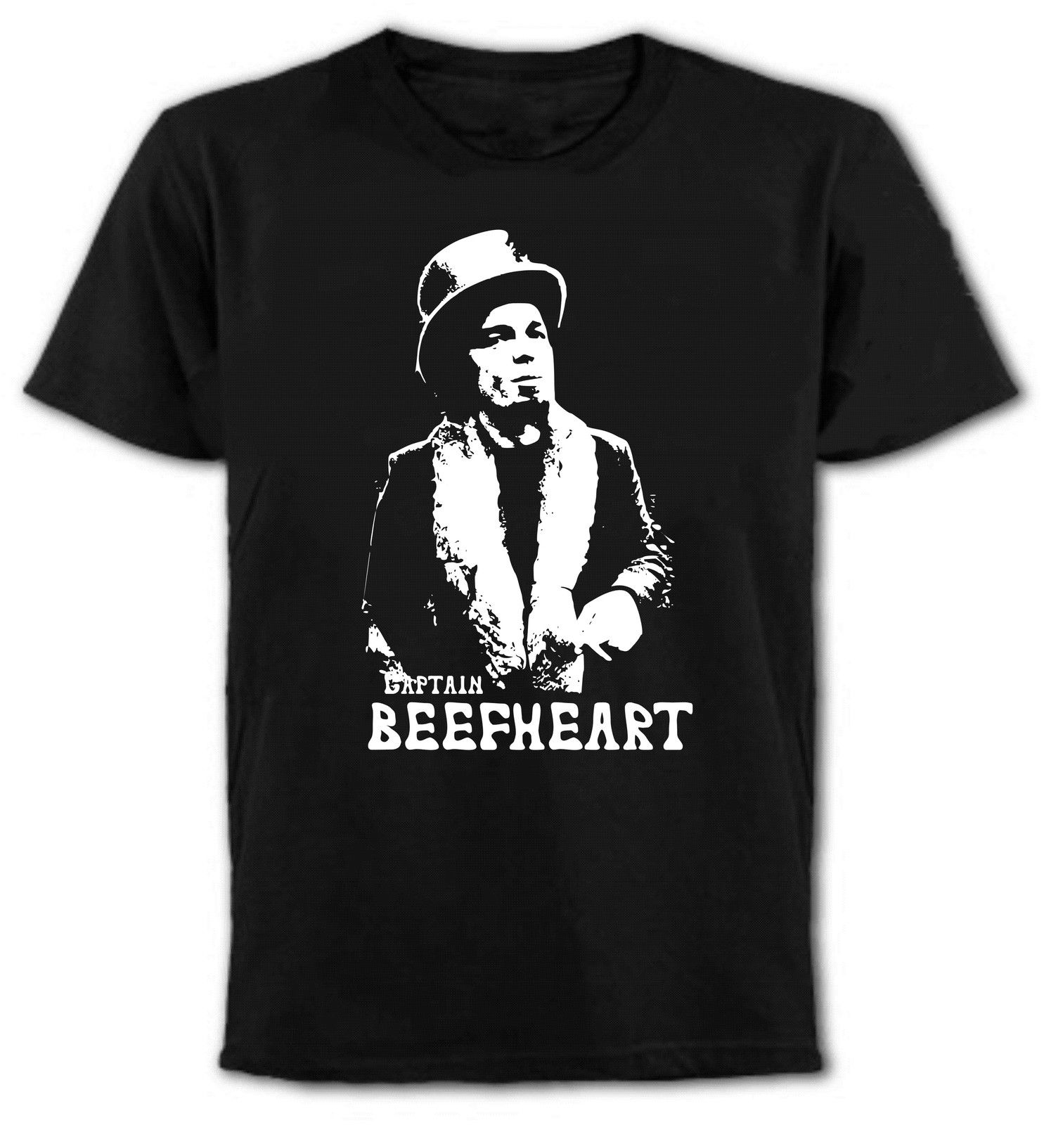 Awesome T Shirts Top Men  Captain Beefheart Rock Icon O-Neck Short-Sleeve Shirt