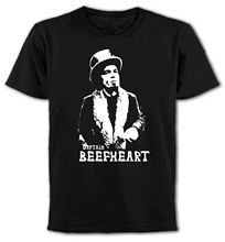 цена на Awesome T Shirts Top Men   Captain Beefheart Rock Icon  O-Neck Short-Sleeve T Shirt