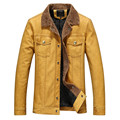 Hot high quality men's leather jacket casual windbreaker coat jacket Overcoat free shipping