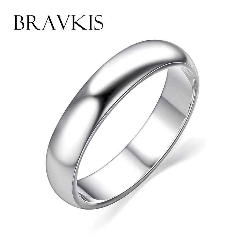Aliexpress.com : Buy BRAVKIS wedding simple plain ring ...