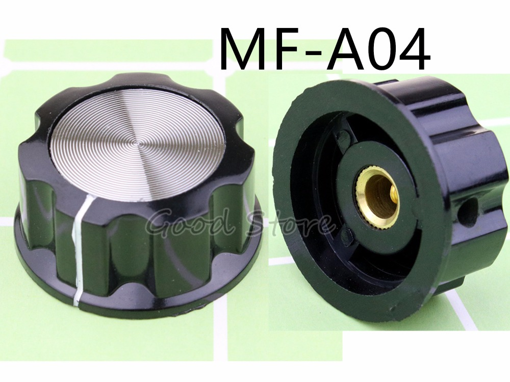 5Pcs MF-A04 A04 Potentiometer Knob WH118/WX050 Rotary Switch Electronic 6mm