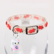 Cat collars Pet night glow collars Chrome-plated bell collars Radiance bell collars Glass beads pendants kv cat bell collars Cat fashion cat collars