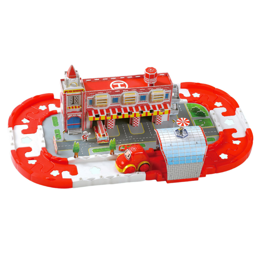 Electric Rail Car Racing Car 3d Puzzle Electric Track Fire