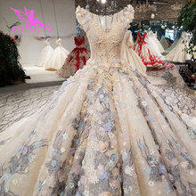 AIJINGYU vestido de novia negro de talla grande, traje de novia a medida de Indonesia, vestidos de novia baratos de dos piezas de Dubái