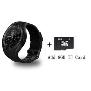 Image 5 - מפעל 2G Smartwatch 1.22 אינץ מלא עגול תצוגת sim יחיד nano sim Bluetooth SM01 חכם שעון ללא מצלמה