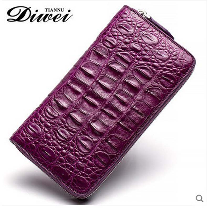 diwei 2018 new hot free shipping female crocodile women wallet long large capacity woemn days clutches women wallet authentic yuanyu 2018 new hot free shipping python leather women purse female long women clutches women wallet more screens women wallet