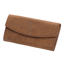Trend Men's Genuine Crazy Horse Leather Card Wallet Pass Case Hipster Purse Checkbook Cash Receipt Holder Hasp Coin Wallet Q316