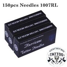 Igły do tatuażu 150 sztuk profesjonalne igły do tatuażu 1007RL jednorazowe Sterilze okrągłe igły do tatuażu liniowej do tatuażu Body Art