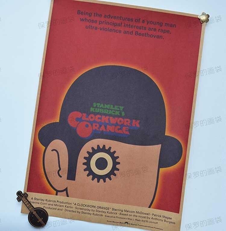 etiqueta de la pared clockwork orange movie poster pared bar arte decoracin mix artculos carteles para