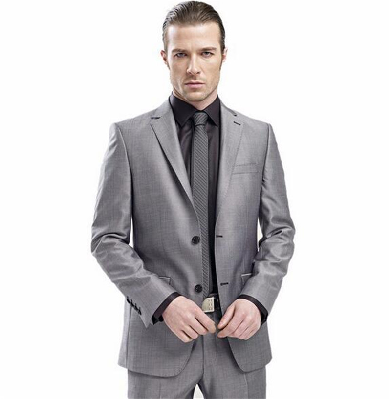 Aliexpress.com : Buy Slim Fit MenTuxedos Notch Lapel Man Suit Blue ...