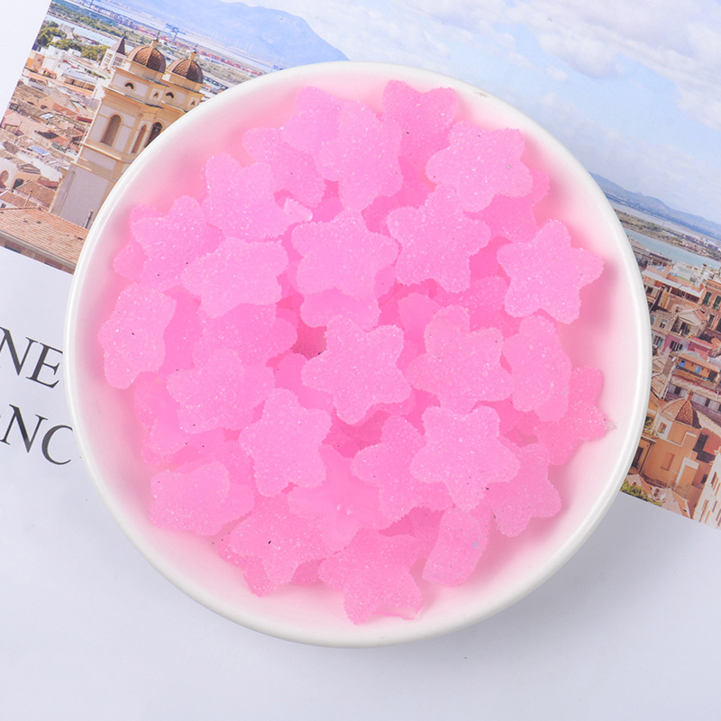 Happy Monkey 20pcs/pack Slime Supplies Toys DIY Mini Pretend Star Candy Slime Accessories Filler for Fluffy Clear Crystal Slime