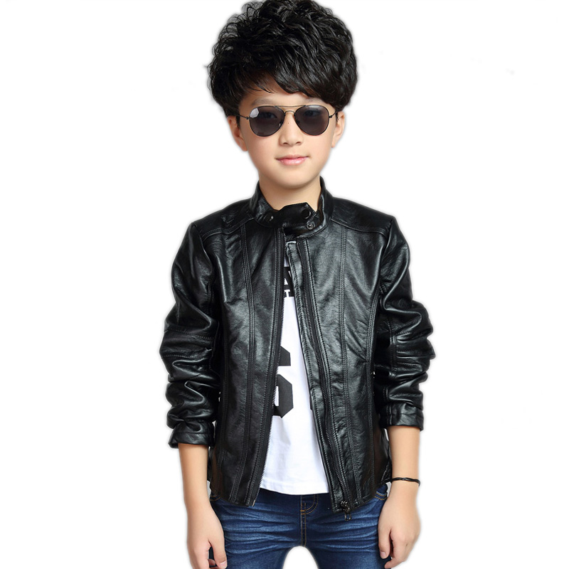 toddler leather jacket 2018 new baby boy jackets solid pu leather jackets baby boys kids coats long sleeve boy outerwear 2-11T