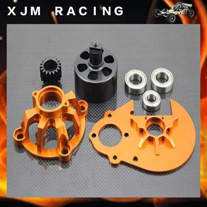 CNC 17 mm clutch cup, 30 mm bearings, clutch drive system for 1/5 scale GTB racing Baja 5b/5t/sc gtb racing baja metal air filter oil tank cover