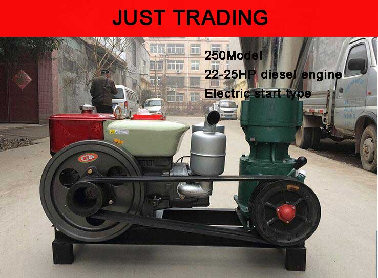 22-25HP diesel engine 250mm flat die, animal feed pellets mill machine,wood pellet mill machine