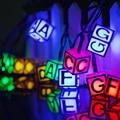 30 светодиодных водонепроницаемых солнечных гирлянд с буквенным принтом  сказочные огни  атмосферный свет  лампа на Рождество  Хэллоуин  сад...