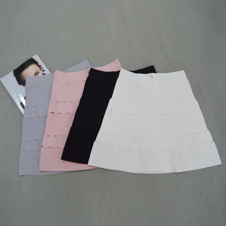 2018 Rosa Lápiz Sexy 5 Gris Señoras Falda Diseñador gris 42 Cm Dulce rosado azul Vendaje Blanco Colores De Negro Punto Cielo Negro xXzBX