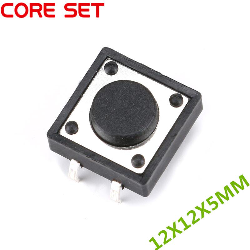 50 шт./лот 12x12x5 мм Сенсорная Кнопка Микро переключатель прямой подключение самосброс 12*12*5 мм кнопочная Кнопка DIP 4 контакта