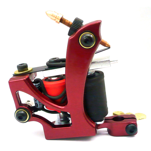 Tattoo Machine Aluminum Alloy 10 Wraps Coils Equipment Supply Liner Shader Gun font b Beauty b