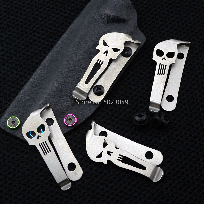 Brand New TC4 Titanium Alloy Pocket Clip Tools Part for Knife Button Material Belt Flashlight K Sheath Clip image