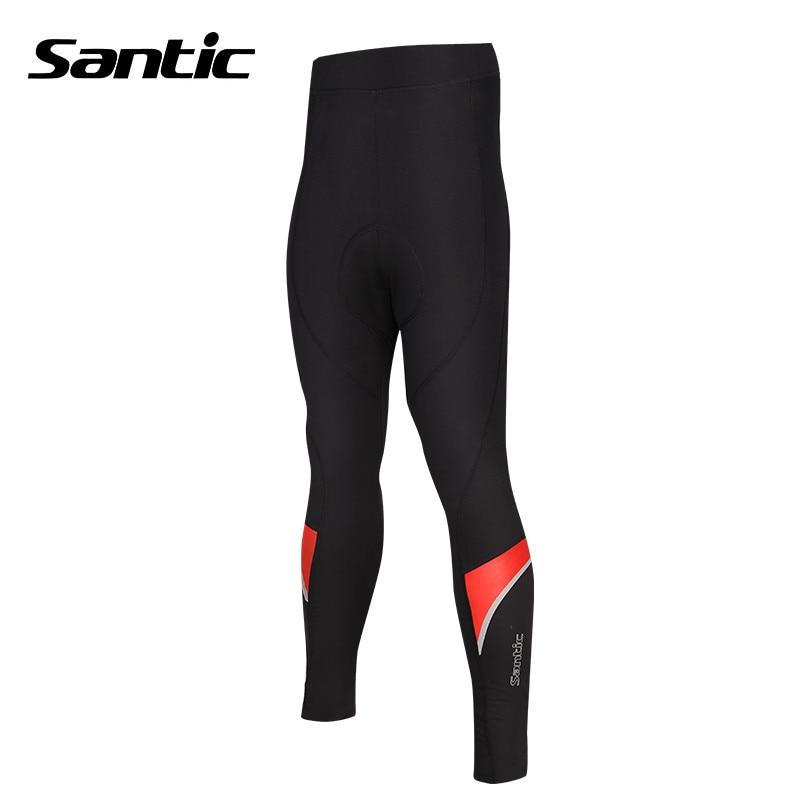 купить Santic Winter Cycling Pants Men Long Bicycles Tight Pants compression pantalones Thermal Waterproof Bike Pants M5C05064H по цене 4183.21 рублей