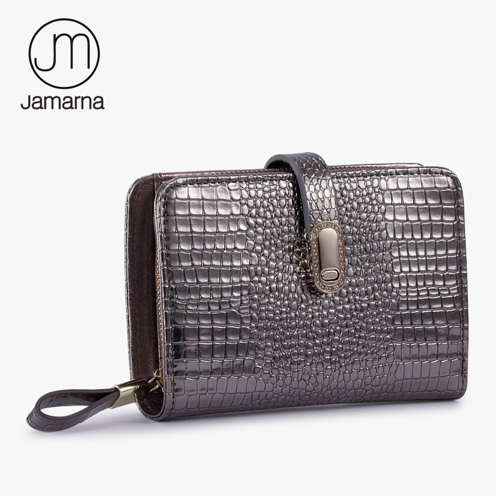 Jamarna Crocodile Genuine Leather Wallet Female Small Sliver Purse Card Holder Zipper Coin Purse Ladies Wallet For Women New q switched nd yag laser head tip probe for sale with wholesale price 1064nm