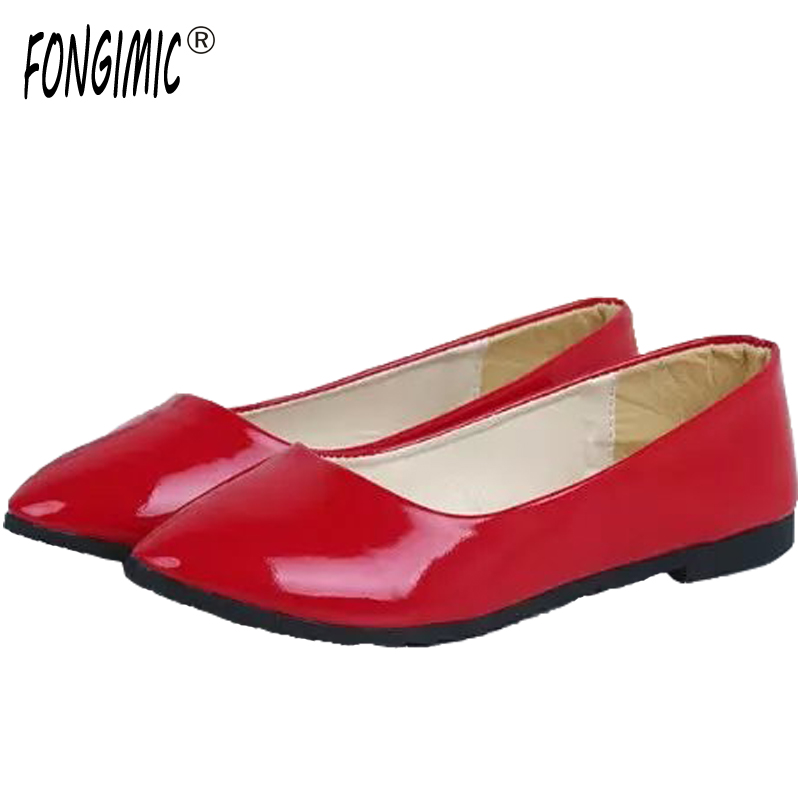 Women spring summer patent leather flat shoes new hot fashion solid simple round-toe casual sexy women flats boat shoes new 2016 spring autumn summer fashion casual flat with shoes breathable pointed toe solid high quality shoes plus size 36 40